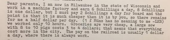 Matthias Mirly 1852 letter from Milwaukee