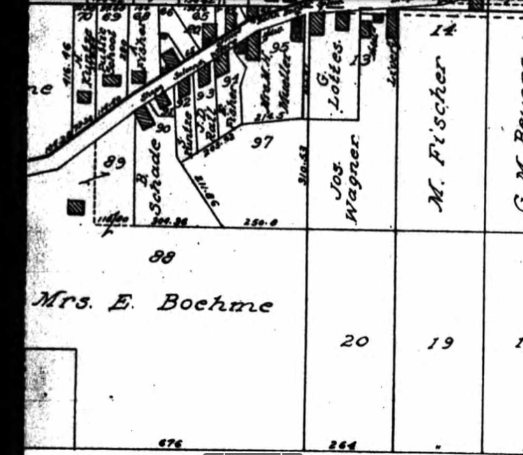 Mrs. E. Boehme land map 1915
