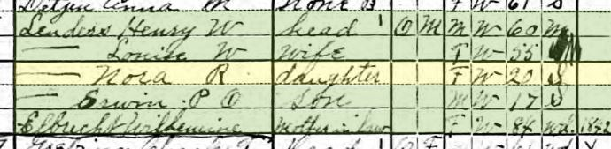 Nora Lueders 1920 census Brazeau Township MO