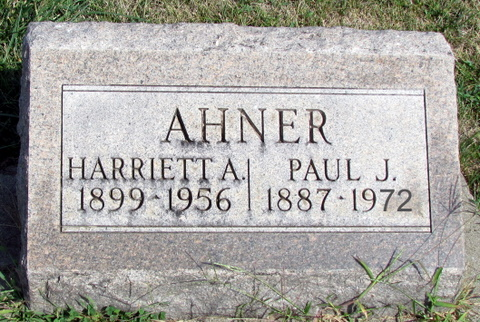 Paul Ahner gravestone Bailey Memorial Tolono IL