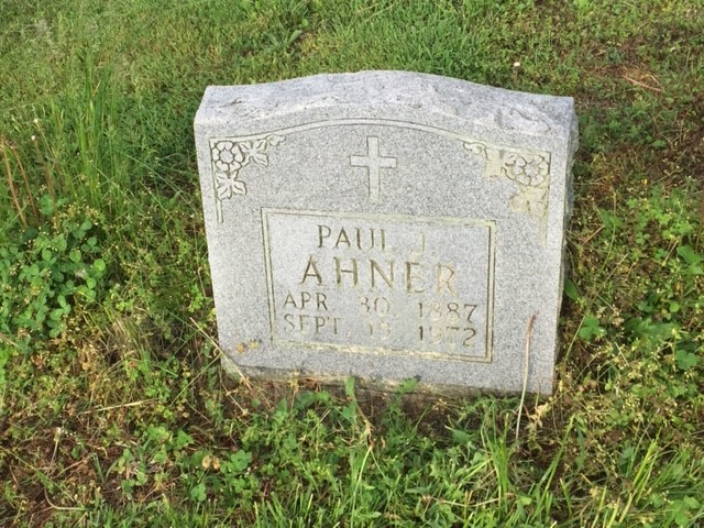 Paul Ahner gravestone Trinity Altenburg MO