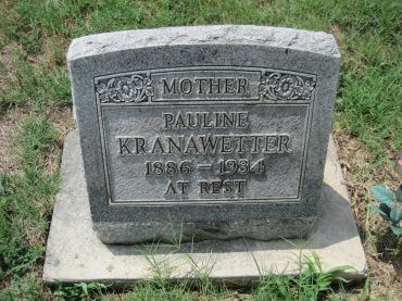 Pauline Kranawetter gravestone Zion Pocahontas MO