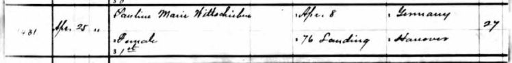 Pauline Wittschieben birth register 1 Perry County
