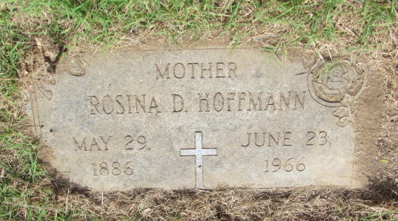 Rosina Hoffmann gravestone New Bethlehem St. Louis MO