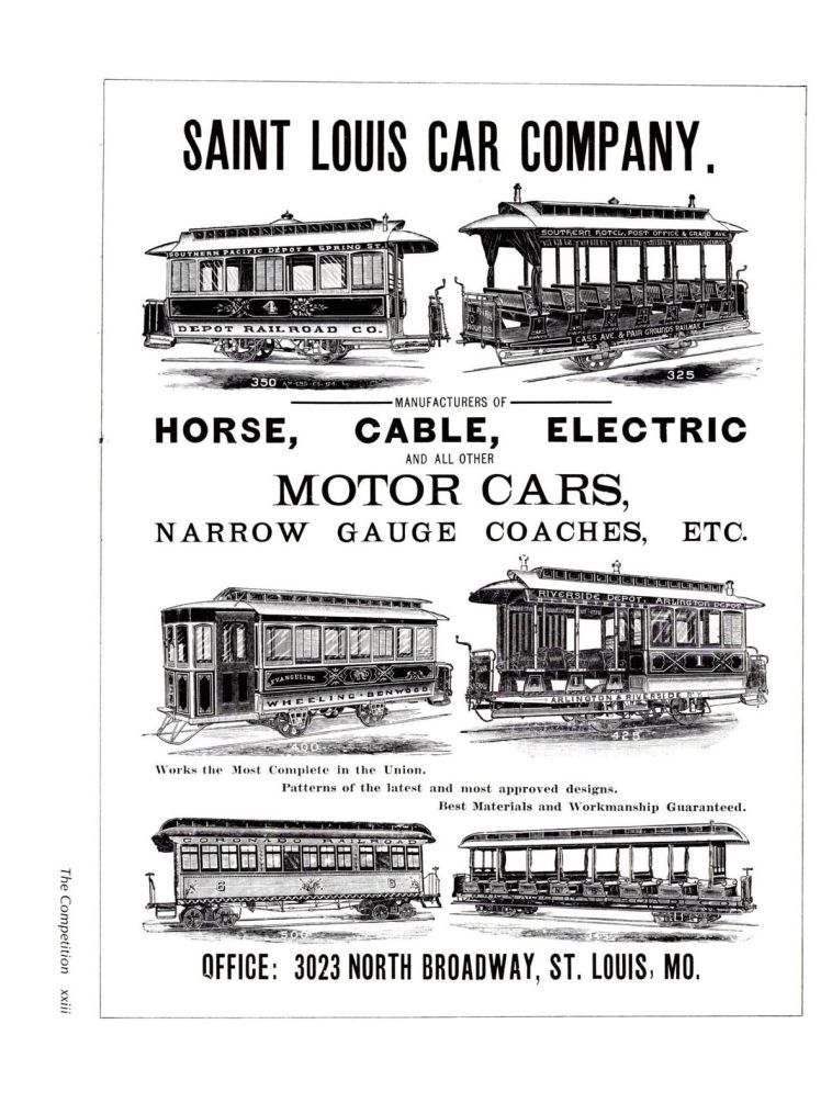 St. Louis Car Co. streetcars