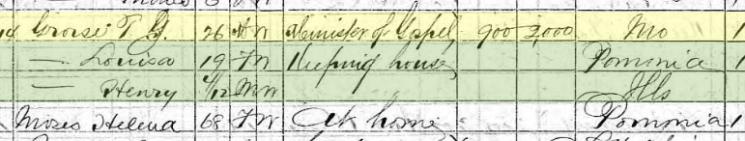T.J. Grosse 1870 census Chicago IL