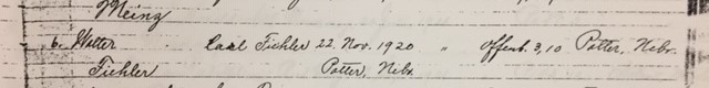 Walter Fiehler confirmation record Trinity Altenburg MO