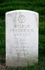 Wilbur Ahrens gravestone Jefferson Barracks St. Louis MO