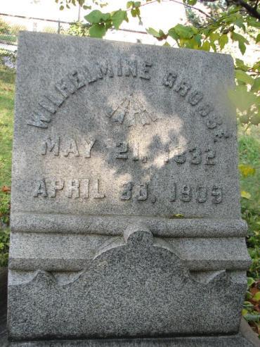 Wilhelmine Grosse gravestone - Western, St. Louis, MO