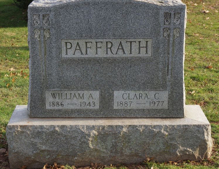 William and Clara Paffrath gravestone New Jersey