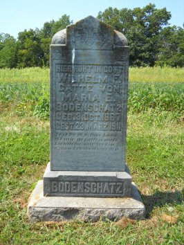 William Bodenschatz gravestone St. Paul's Wittenberg MO