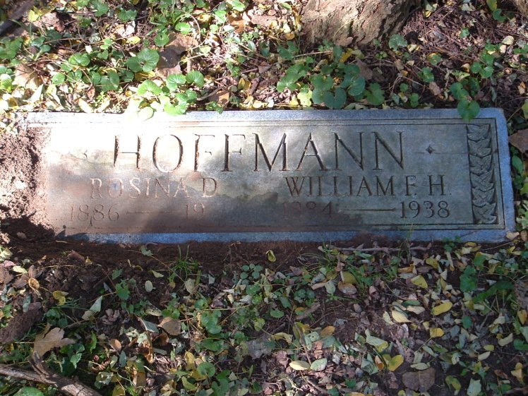 William F H Hoffmann gravestone Fairmount Davenport IA