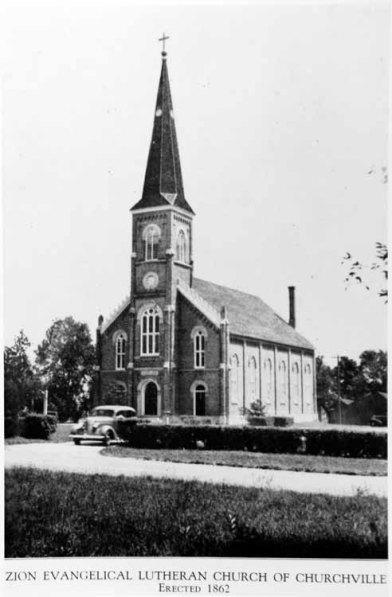 Zion Lutheran Church Churchville Bensenville IL