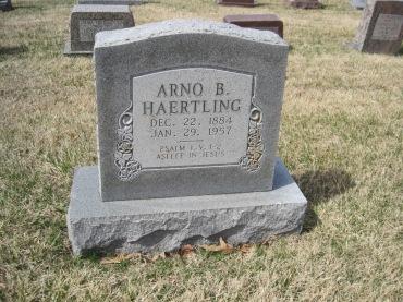 Arno Haertling gravestone Immanuel New Wells MO