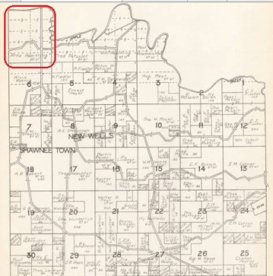 Arno Haertling land map 1930 Cape County