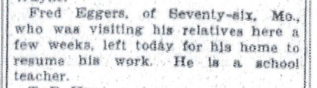 August 1909 Visit