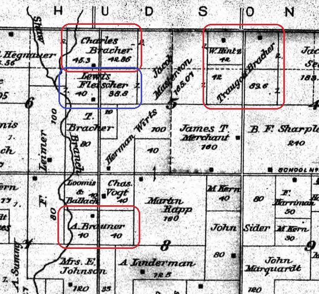 Bracher land map Bates County 2 Fleischer