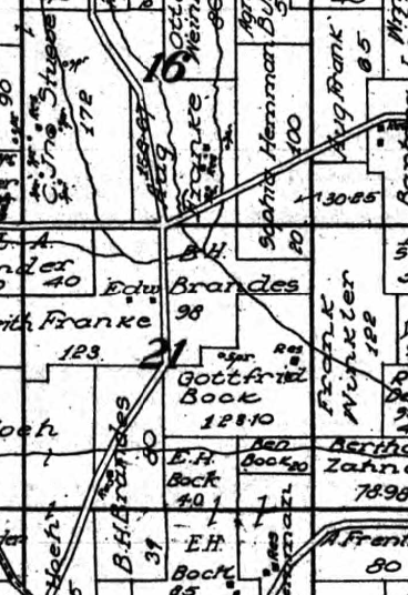 Brandes Hemmann Franke land map 1915