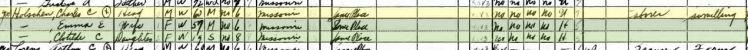 Carl Holschen 1940 census Brazeau Township MO