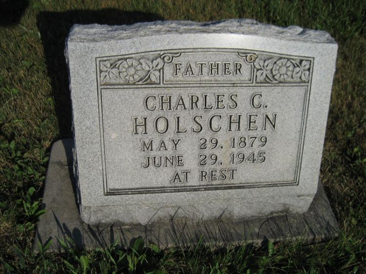 Carl Holschen gravestone St. Paul's Wittenberg MO