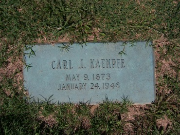 Carl Kaempfe gravestone Cape County Memorial Park MO