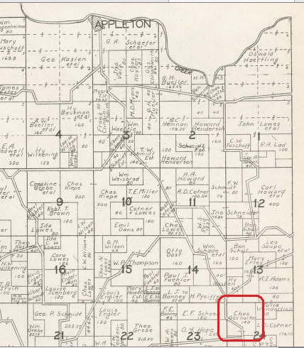 Chas. Gerharter land map 1930 Cape County