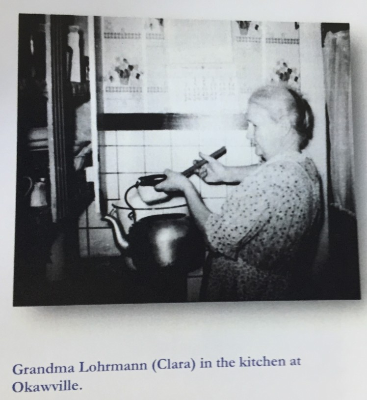 Clara Lohrmann in kitchen