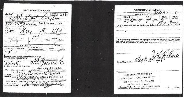 Draft Registration WWI