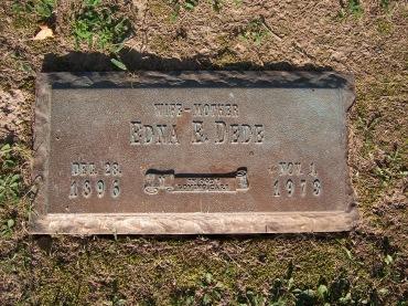 Edna Dede gravestone Cape County Memorial Cape Girardeau MO