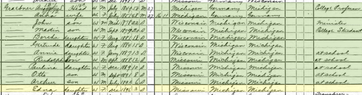 Edna Graebner 1900 census St. Louis MO