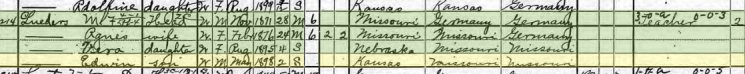 Edwin Lueders 1900 census Logan KS