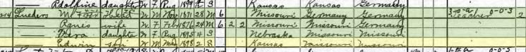 Edwin Lueders 1900 census Logan KS