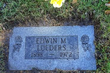 Edwin Lueders gravestone Memorial Cemetery Fremont NE