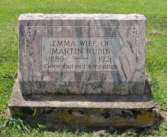 Emma Rubin gravestone Immanuel Augsburg IL