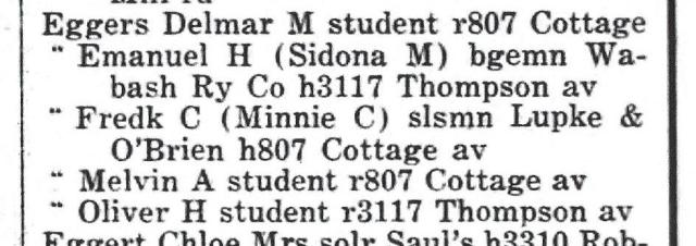 Fort Wayne Directory 1933
