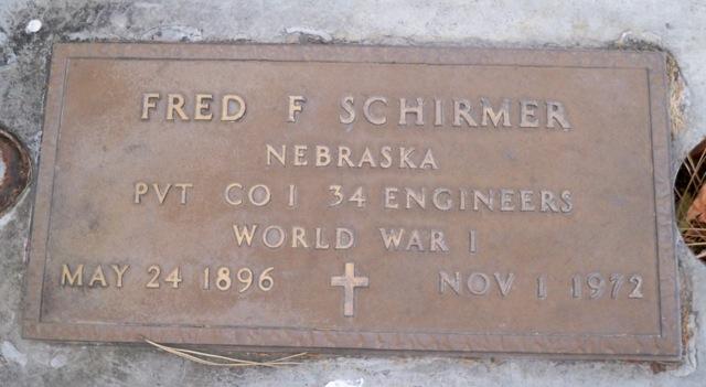 Fred Schirmer gravestone Dry Creek Boise ID