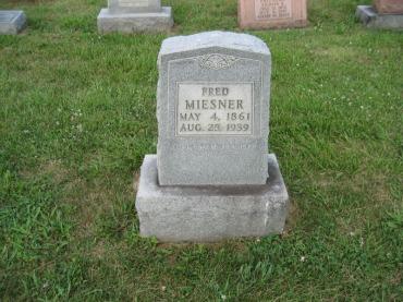Frederick Miesner gravestone Salem Farrar MO