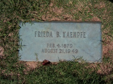 Frieda Kaempfe gravestone Cape County Memorial Park MO