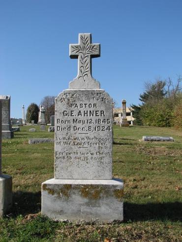 G.E. Ahner gravestone St. Paul's Des Peres MO
