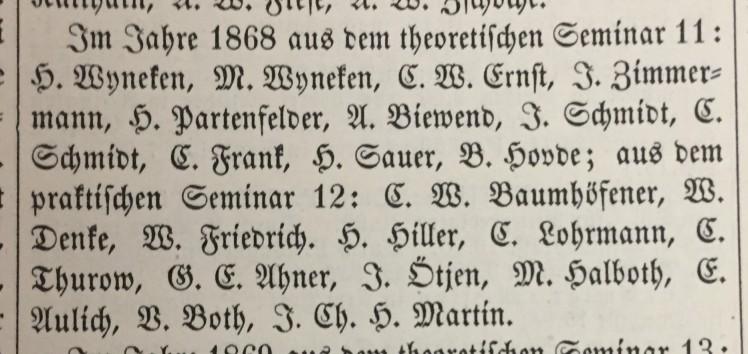 G.E. Ahner Seminary 1868 Der Lutheraner