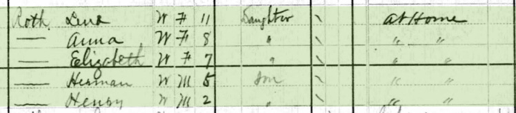 George Roth 1880 census 2 Cape Girardeau MO