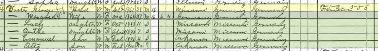 George Voerster 1900 census Ulm AR