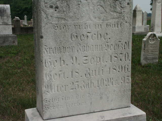 Gesche Heeszel gravestone Christ Jacob IL