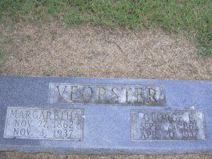 Goerge and Margaretha Voerster gravestone Zion Ulm AR