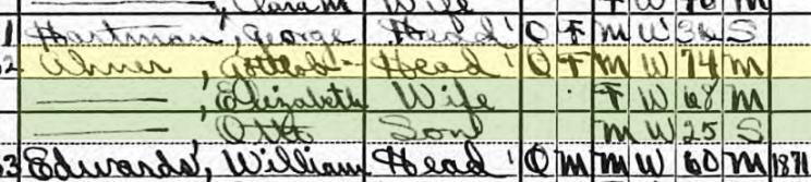 Gottlob Ahner 1920 census Kirkwood MO