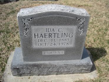 Ida Haertling gravestone Immanuel New Wells MO