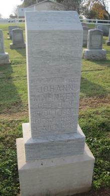 Johann Mahnken gravestone Salem Farrar MO