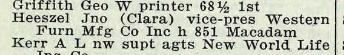 John Heeszel 1918 Portland city directory