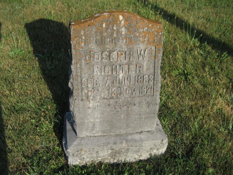 Joseph Richter gravestone St. Paul's Wittenberg MO