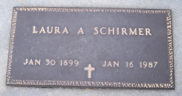 Laura Schirmer gravestone Dry Creek Boise ID